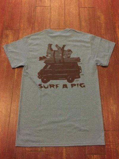 画像1: SURF A PIG(サーフ ア ピッグ) プリントTシャツ ST-4