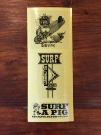 SURF A PIG(サーフ ア ピッグ) ステッカー 3点セット SS-4
