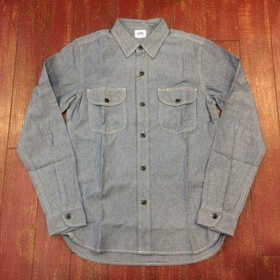 画像1: LEE(リー) シャンブレーワークシャツ LT0501