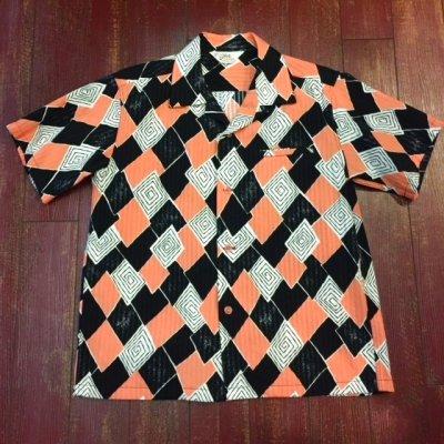 """画像1: スターオブハリウッド オープンカラーシャツ """"DIAMOND LEAVES"""" SH37884"""