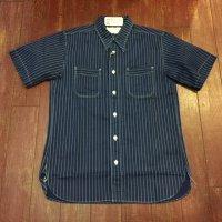 シュガーケーン フィクションロマンス ウォバッシュストライプ半袖ワークシャツ SC36267A