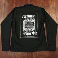 ラングリッツレザーズ 70周年ロングスリーブ プリント ワークシャツ LSーSHーLL266