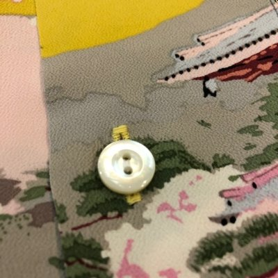 画像4: サンサーフ スペシャルエディション ハワイアンシャツ 「THE PAGODA IN FULL BLOOM」 SS37858  (東洋エンタープライズ)