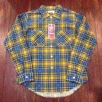 ウエアハウス(ダブルワークス) オープンカラー プリントフランネルシャツ 62003-A