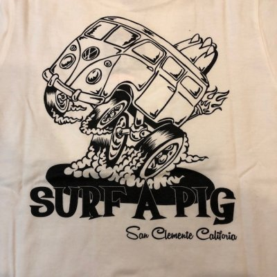 画像2: SURF A PIG(サーフ ア ピッグ) プリントTシャツ ST-16
