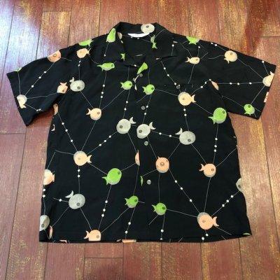 """画像1: スターオブハリウッド オープンカラーシャツ """"アトミックフィッシュ"""" SH38128"""