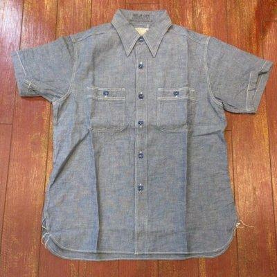 画像1: バズリクソンズ 半袖シャンブレーワークシャツ BR35856