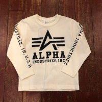 アルファ(ALPHA) キッズ 長袖プリントTシャツ 29101