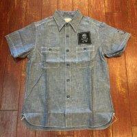 バズリクソンズ 半袖カスタムシャンブレーワークシャツ BR38324