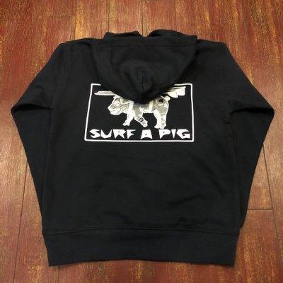 画像1: SURF A PIG(サーフ ア ピッグ) プリントプルオーバーパーカー SW-5PC