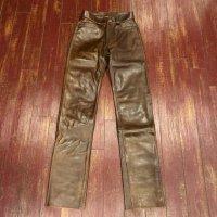 フェローズ 革パン ブラウン ホースハイド 5ポケット レザーパンツ PLP-02