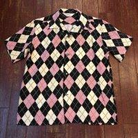 """スターオブハリウッド オープンカラーシャツ """"アーガイル""""  SH38628"""