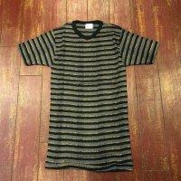 ミラー(MILLER) VネックTシャツ ラメボーダー