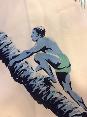 サンサーフのハワイアンシャツ 「PALM TREE CLIMBER」