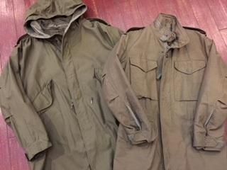米陸軍のフィールドジャケット