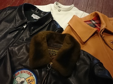 G-1、ウエストライド、グリームのゴートスキンレザージャケット売れています!